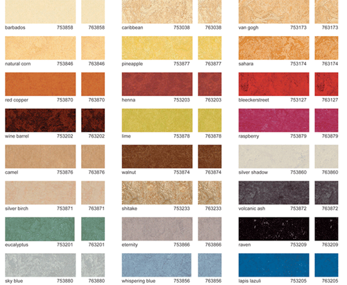 Designapplause marmoleum flooring forbo for Linoleum flooring colors