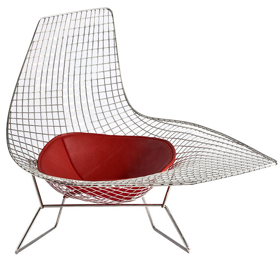 Designapplause bertoia asymmetrical chaise harry bertoia for Bertoia asymmetric chaise