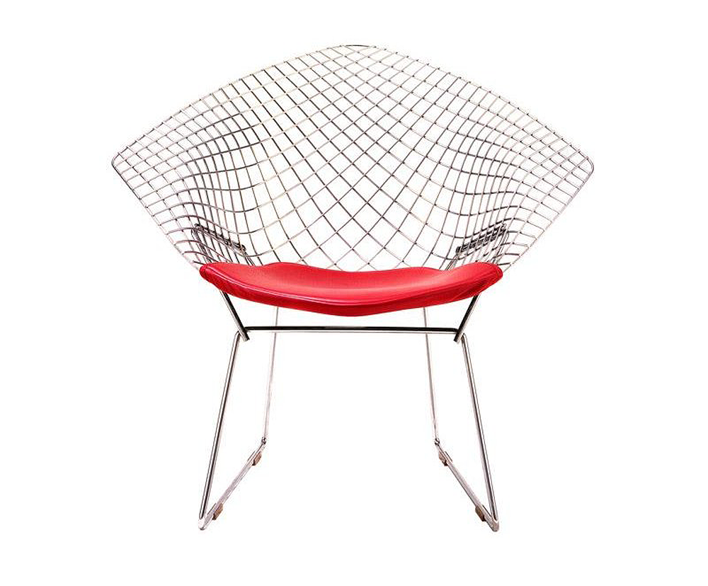 Designapplause bertoia diamond lounge chair harry bertoia for Metal design chair