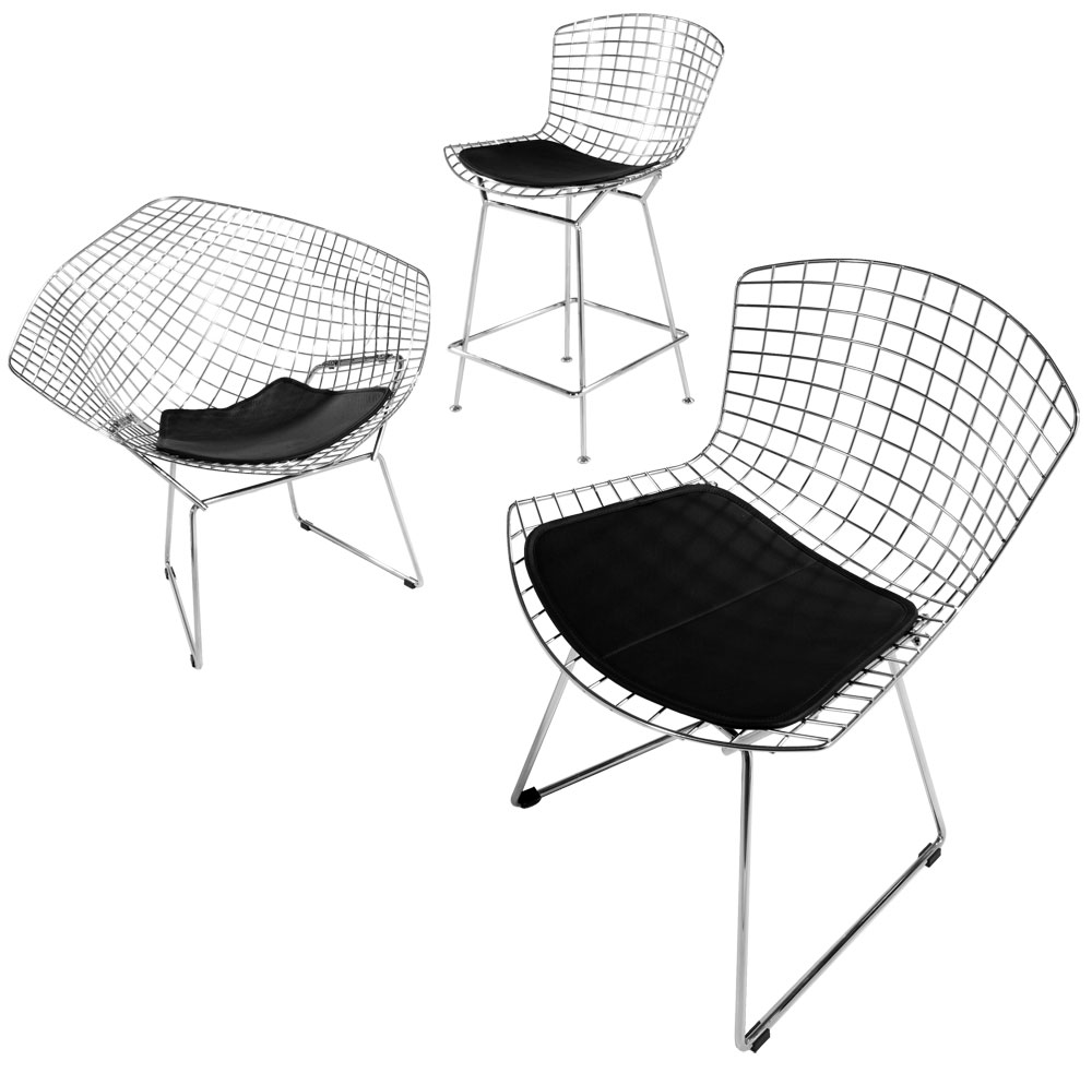 Designapplause bertoia diamond lounge chair harry bertoia for Eames hocker replica