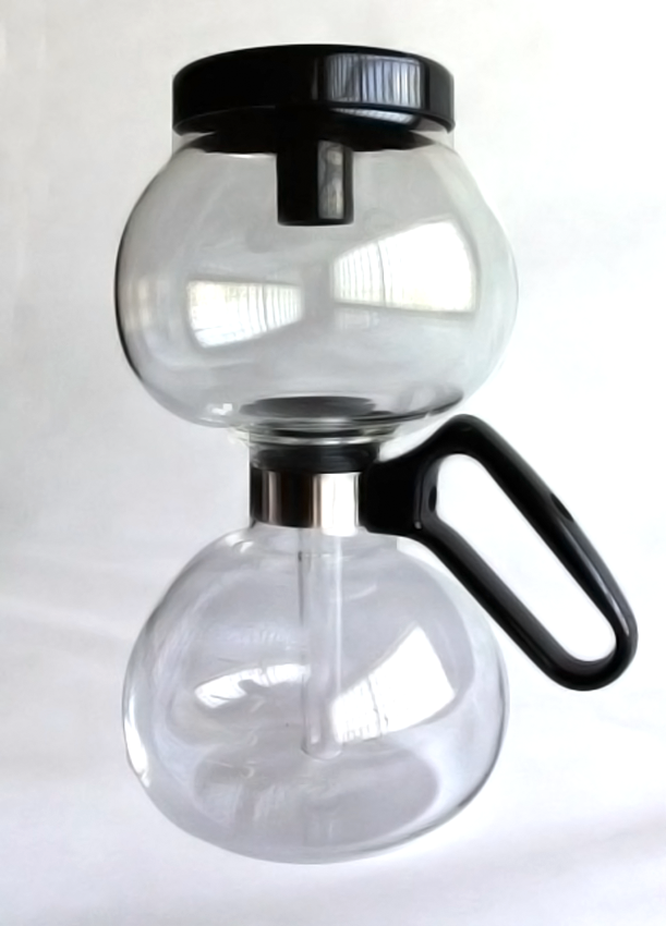 DesignApplause Yama stovetop coffee siphon. Northwest glass.