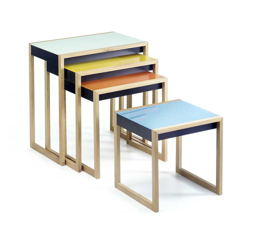 designapplause nesting tables josef albers. Black Bedroom Furniture Sets. Home Design Ideas