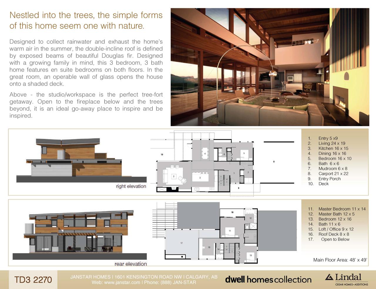 Designapplause td3 2270 turkel design for Lindal homes floor plans